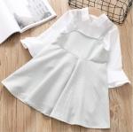 เสื้อ+ชุดกระโปรง สีขาว แพ็ค 5 ชุด ไซส์ 5-7-9-11-13