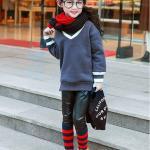 เสื้อกันหนาว สีเทา แพ็ค 5 ชุด ไซส์ 120-130-140-150-160 (เลือกไซส์ได้)