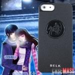 case iphone 5 เคสไอโฟน5 เคสกันลื่นดำเข้มลายราศรีและดวงดาว