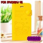 case iphone 4/4s เคสไอโฟน4/4s rilakkuma และผองเพื่อน เคสกระเป๋าฝาพับข้าง ด้านในเป็นซิลิโคนนิ่มๆ พับได้ ใส่บัตรได้ น่ารักสุดๆ