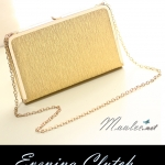 พร้อมส่ง Evening Clutch กระเป๋าออกงาน สีทอง ทรงสีเหลี่ยม พร้อมสายสะพาย ขนาด L