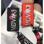 เคส Xiaomi MI Mix 2 ซิลิโคนสกรีนดอกไม้สวยงามมาก พร้อมสายคล้องสั้นหรือยาว (แล้วแต่ร้านจีนแถมมา) ราคาถูก