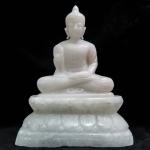 พระพุทธรูปหินขาวแกะสลัก ( Buddha White Rock Craving )