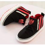 รองเท้าเด็กแฟชั่น สีดำ แพ็ค 6 คู่ ไซส์ 25-26-27-28-29-30