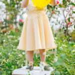 กระโปรง สีเหลือง แพ็ค 5ชุด ไซส์ 80cm-90cm-100cm-110cm-120cm