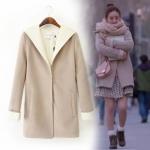 [Pre-order] TN119416666 เสื้อ Overcoat แขนยาว ทรงหลวม พร้อมฮู๊ด HOOD