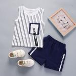 ชุดเซตเสื้อกล้ามลายทางสีขาว [size 6m-1y-2y-3y]