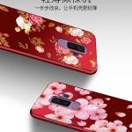 เคส Samsung S9+ (S9 Plus) ซิลิโคนแบบนิ่ม สกรีนลายดอกไม้ สวยงามมากพร้อมสายคล้องมือ ราคาถูก (ไม่รวมแหวน)