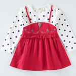 เสื้อ สีแดง แพ็ค 5 ชุด ไซส์ 80-90-100-110-120 (เลือกไซส์ได้)