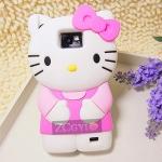 เคส S2 Case Samsung Galaxy S2 i9100 คิตตี้ ซิลิโคน 3D นิ่มๆ น่ารักๆ Hello kitty Silicone 3D