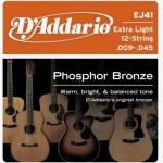 สายกีตาร์โปร่ง D'Addario EJ41