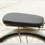 เบาะฟองน้ำรองนั่งท้ายรถจักรยาน Rear Seat Sponge Cushion PU Leather Cover Bike