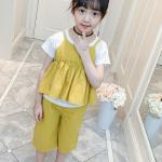 เสื้อตัวนอก+เสื้อตัวใน+กางเกง สีเหลือง แพ็ค 4 ชุด ไซส์ 130-140-150-160 (เลือกไซส์ได้)