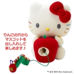 Limited Edt. Hello Kitty with red apple ตุ๊กตาเฮลโหลคิตตี้ถือแอปเปิ้ลแดง โดนหนอนเจาะ