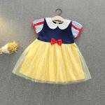 ชุดเจ้าหญิง สีเหลือง แพ็ค 5ชุด ไซส์ 90-100-110-120-130 (เลือกไซส์ได้)