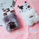 เคส iPhone 8 Plus พลาสติก TPU ลายน้องแมวประดับขนเฟอร์สวยมาก ราคาถูก