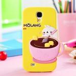 เคส S4 Case Samsung Galaxy S4 i9500 เคสซิลิโคนลายการ์ตูน Molang คนถ้วยกาแฟน่ารักๆ