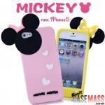 case iphone 5 เคสไอโฟน5 เคสซิลิโคนมินนี่เมาส์ 3มิติ สีหวานๆ น่ารักๆ สวยๆ Minnie Mouse Walt Disney 3D Silicone Case