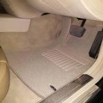 พรมไวนิลดักฝุ่น Benz S500 W221 สีครีมขอบครีม