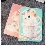 เคส iPad mini 3/2/1 หนังเทียมฝาพับสีพาสเทลลายน้องแมวน่ารักมากๆ ราคาถูก