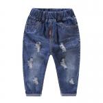 กางเกงยีนส์เด็กสีเข้มแต่งรอยขาด [size 2y-3y-4y-5y-6y]