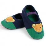 รองเท้าใส่ในบ้านลายหมีสีกรมท่า