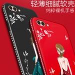 เคส Huawei Honor View 10 ซิลิโคนลายผู้หญิงแสน สวยมากๆ ราคาถูก (สีของสายคล้องแล้วแต่ร้านจีนแถมมา)