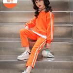 เสื้อ+กางเกง สีส้ม แพ็ค 5 ชุด ไซส์ 120-130-140-150-160 (เลือกไซส์ได้)