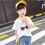 เสื้อ+กางเกง สีขาว แพ็ค 5 ชุด ไซส์ 110-120-130-140-150 (เลือกไซส์ได้)