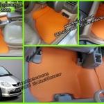 ขายยางปูพื้นรถเข้ารูป honda city 2005 จิ๊กซอร์สีส้มขอบส้ม