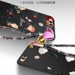 เคส Huawei Honor 7X ซิลิโคนแบบนิ่ม สกรีนลายดอกไม้ สวยงามมากพร้อมสายคล้องมือ ราคาถูก (ไม่รวมแหวน)