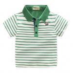 เสื้อ สีขาว แถบเขียว แพ็ค 5 ชุด ไซส์ 100-110-120-130-140