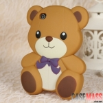 case iphone 4s 4 เคสซิลิโคน 3D หมีน้อยเท็ดดี้แบร์ น่ารักสุดๆ Korea cute cartoon teddy bear Teddy protective shell