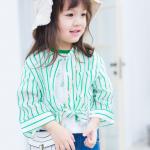 เสื้อ สีเขียว แพ็ค 5ชุด ไซส์ 80cm-90cm-100cm-110cm-120cm