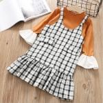 เสื้อ+ชุดกระโปรง สีน้ำตาล แพ็ค 5 ชุด ไซส์ 5-7-9-11-13