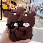 เคส iPhone 7 Plus (5.5 นิ้ว) ซิลิโคน soft case หมีน้อยอุ้มตุ๊กตาน่ารักมากๆ ราคาถูก