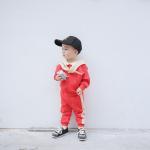 เสื้อ+กางเกง สีแดง แพ็ค 5 ชุด ไซส์ 80-90-100-110-120