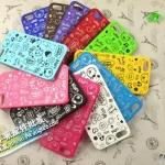 case iphone 5 เคสไอโฟน5 เคสลายเส้นการ์ตูน สีทูโทน น่ารักๆ มีหลายสีให้เลือก