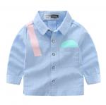 เสื้อ สีน้ำเงิน แพ็ค 6 ชุด ไซส์ 90-100-110-120-130-140