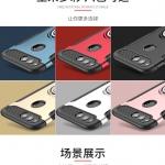 เคส Huawei Honor 7X พลาสติก ซิลิโคน 2 ชั้น พร้อมขาตั้ง-แหวนในตัว ราคาถูก