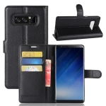 เคส Samsung Note 8 แบบฝาพับด้านข้างหนังเทียมสีพื้นคลาสสิค ด้านในสามารถใส่บัตรได้ควรมีไว้สักอัน ราคาถูก