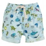 กางเกงฮาวายขาสั้นสีฟ้าลายทะเล [size 2y-3y-4y-5y-6y-7y]
