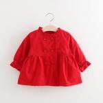 เสื้อกันหนาวสีแดงแต่งกระดุมติดเพชร [size 1y-2y-4y]