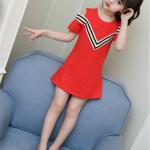 เสื้อ สีแดง แพ็ค 5 ชุด ไซส์ 110-120-130-140-150 (เลือกไซส์ได้)