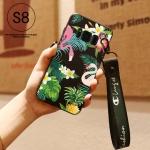 เคส Samsung S8 ซิลิโคนสกรีนลายฟลามิงโก สวยงามมาก ราคาถูก (แบบสั้นหรือยาวแล้วแต่ร้านจีนแถมมา)