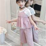 เสื้อตัวนอก+เสื้อตัวใน+กางเกง สีชมพู แพ็ค 4 ชุด ไซส์ 130-140-150-160 (เลือกไซส์ได้)