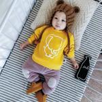 เสื้อ สีเหลือง (ด้านในมีขนอ่อนๆ) แพ็ค 6 ชุด ไซส์ 66-73-80-80-90-90