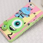 case iphone 5s / 5 เคสตัวการ์ตูนดิสนีย์ Monster University และ เอเลี่ยน 3 ตา ถือกีร์ต้าและอมยิ้มๆ ไว้เสียบและถอดได้ แนวๆ ราคาส่ง ขายถูกสุดๆ