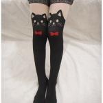 [พร้อมส่ง] P5070 ถุงน่องลายแมว ผูกโบ Ribbon Cat