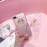เคส iPhone 7 Plus (5.5 นิ้ว) พลาสติก TPU หมีน้อย กากเพชรสุดฟรุ้งฟริ้ง ราคาถูก